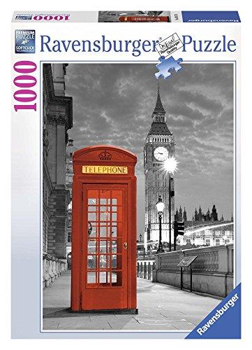 Ravensburger Puzzle, Puzzle 1000 Pezzi, Cabina Telefonica Londra, Puzzle Londra, Puzzle Città, Puzzle Adulti, Puzzle Ravensburger - Stampa di Alta Qualità