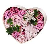 ANBET Caja de Regalo de Flores Falsas Jabón Artificial Rose preservada para Siempre Regalo de Flores para Damas para el Día de la Madre, el Día de San Valentín, el Día del Maestro, Boda (Rosa)