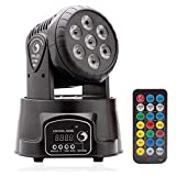 U`King DMX512 Stadiums Licht Mini Moving Head Lichteffekt mit Fernbedienung Automatisch Rotierenden LED Bühne für Party Disco Club((mit Fernbedienung))