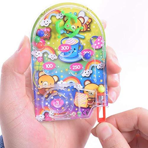 Gwill Paquete de 5 mini máquina de juego de bola pequeña partido de juguete para el hogar