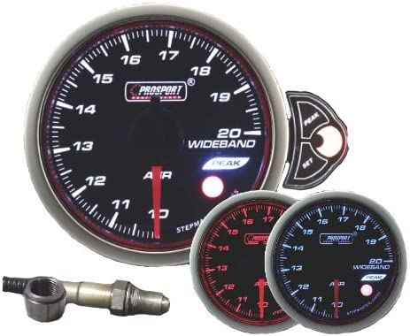 free Wideband Air Fuel Ratio Gauge Prosport 52mm Mail order cheap 2 Halo 1 Series 16