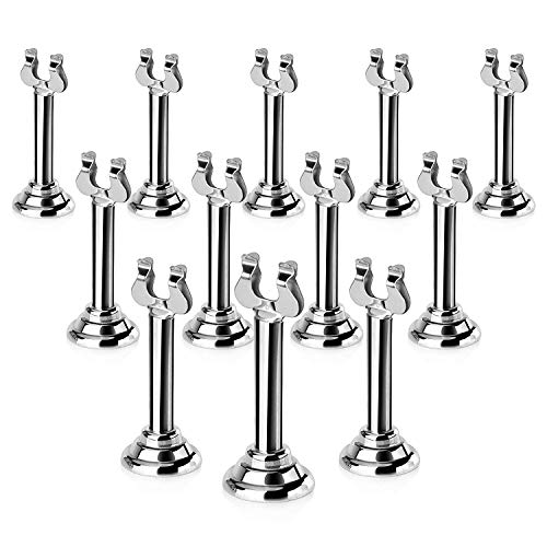 New Star Foodservice 23459 Harp Clip Style, Place Card/Table Number Holder, 3 Inch, Silver, Set of 12