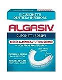 Algasiv Cuscinetti Adesivi per dentiera inferiore, 15 pezzi. Dura tutto il giorno. Tenuta 20 volte più forte.