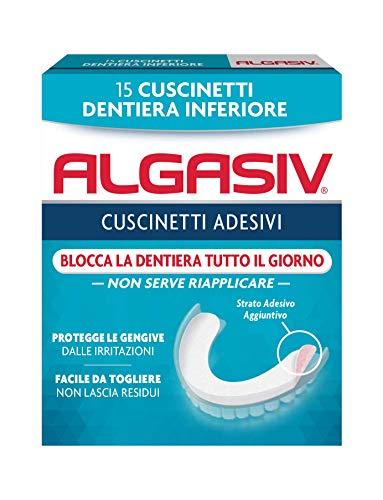 Algasiv Cuscinetti Adesivi per dentiera inferiore, 15 pezzi. Dura...