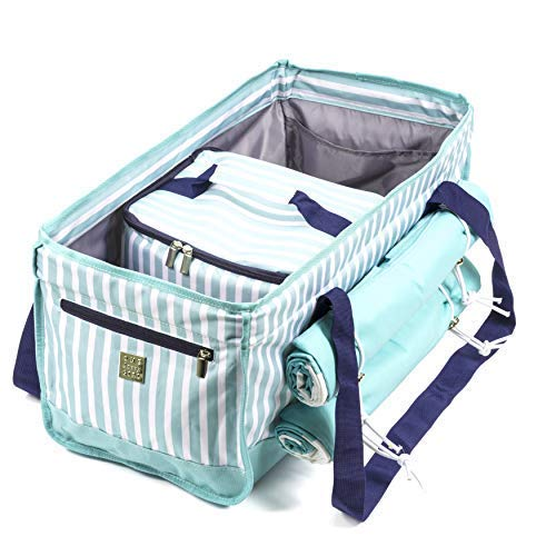 Savvy Outdoors Beach Bag Tote Set - Insulated Cooler and Two Microfiber Beach Towels - Perfect For Outdoor Events, Pool, Picnics, Beach Activities, Camping & More - Lightweight and Durable