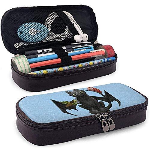 Blauer zahnloser Druck-Briefpapier-Leder-Bleistift-Beutel Tragbarer kleiner Werkzeugbeutel