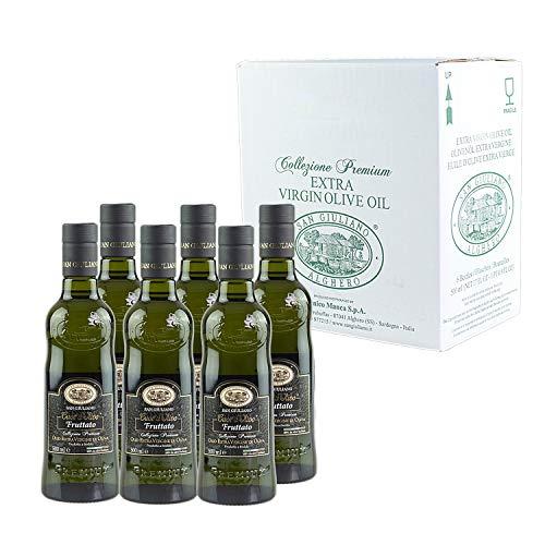 San Giuliano Olio Extra Vergine Cuor d'Olivo Fruttato - 6 Bottiglie da 500 ml
