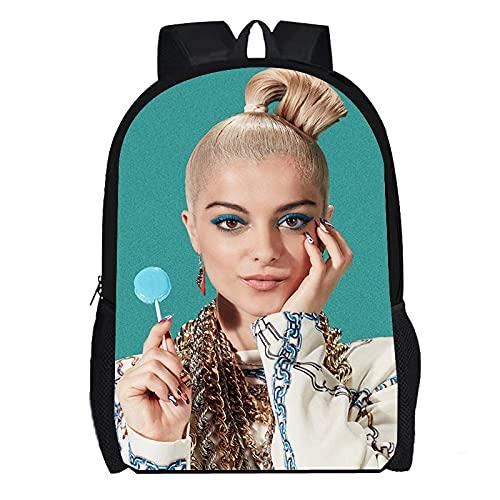DBCJVB Mochila para computadora portátil Tela Oxford 40x30x15cm Música Bebe Rexha Campus mochila escolar viaje al aire libre bolsa ligera para acampar