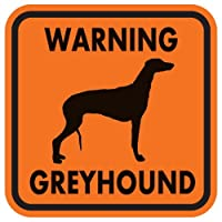 WARNING GREYHOUND マグネットサイン:グレイハウンド(オレンジ)Sサイズ