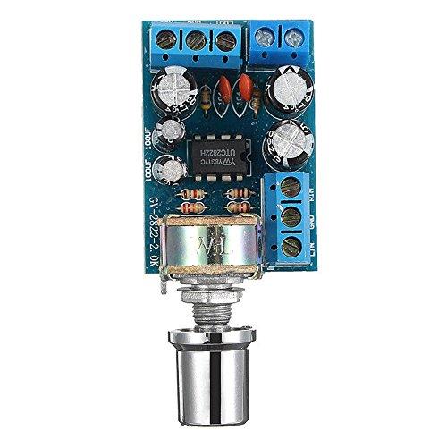 Cikuso TDA2822 TDA2822M Mini 2.0 Canal 2x1w Tablero De Amplificador De Potencia De Audio EstéReo DC 5V 12V Coche MóDulo De PotencióMetro De Control De Volumen
