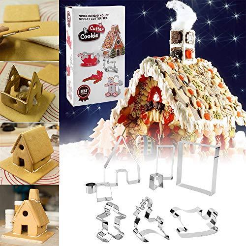 KeepingcooX Juego cortador galletas 3D Christmas Gingerbread