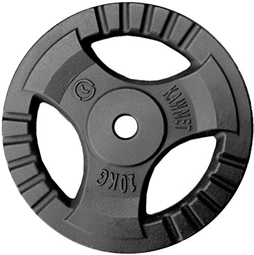 Hantelscheibe Gusseisen Platte Rad Tri-Grip KAWMET 30,5mm 10kg