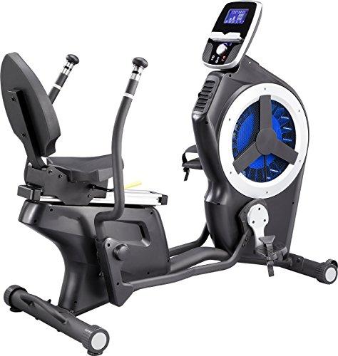 Ganzkörper- Liege-Ergometer MAXXUS 10.1R Pro - Ganzkörper-Trainingsgerät mit Luft- und Magnetwiderstand. Ideal für niedrige Deckenhöhe. Bein- und Armtraining.