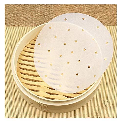 Stoomkoker papier 100 stuks 9 inch geperforeerd papier liners rond steamer stoomkoker Air Fryer Liners