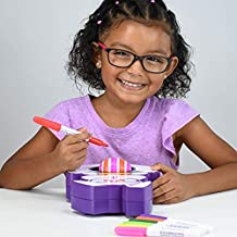 The EggMazing Egg Decorator Kit - Bunny Egg Spinner and 8 Colorful Quick Drying Markers