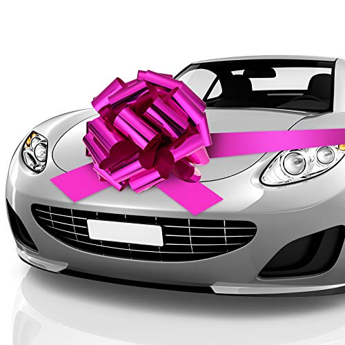 Zonon Car Bow Pull Bow Car Gift Wrapping Bow with 20 ft Car Ribbon for Car Decor Wedding New Houses...