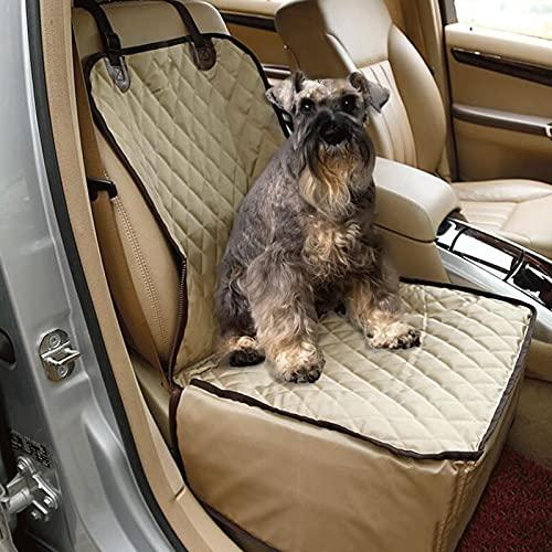 Hacrft Funda de asiento delantero para perros a prueba de arañazos, duradera funda protectora de asiento de coche ligera para perros (tamaño: 45 x 45 x 58 cm)