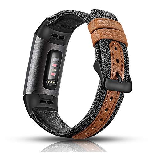 Aottom Cinturino compatibile per Fitbit Charge 4/Fitbit Charge 3, Cinturini Stoffa Nylon Nato,Braccialetto Regolabile Fitbit Sportivi Tracker, Orologio Polso Fitness Ricambio Accessori, Stile Militare