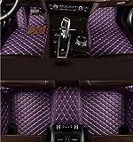 Super1Six Alfombrillas De Coche Aptas para Toyot-A Hilux 2 Puertas 2010~2020 Almohadillas De Pie De Cuero Personalizadas Alfombra De Alfombra Flash Mat,Púrpura