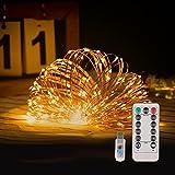 Guirnalda Luces de Hada 20M 200 LED Luces Navidad USB, 8 Modos Cadena de Luces LED de Iluminación con Control Remoto para Fiestas, Navidad, bodas,día de San Valentín, Jardín, Patio