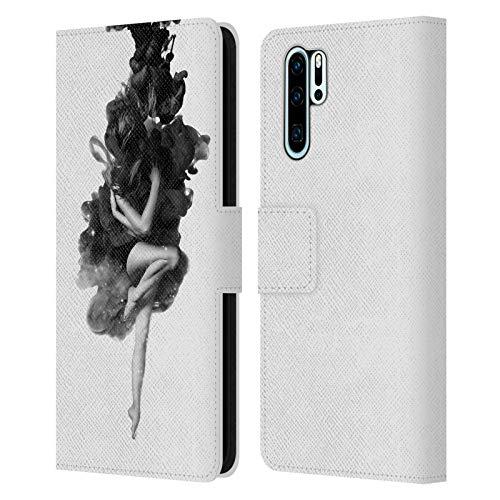 Head Case Designs Licenciado Oficialmente Robert Farkas El Nacido del Universo Espacio Carcasa de Cuero Tipo Libro Compatible con Huawei P30 Pro
