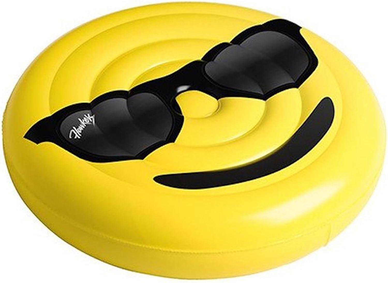 Emoji Expression Tasche Aufblasbare Schwimmende Reihe Lcheln Gesicht Schreien Matratze Matratze Shop Durchmesser 150 CM ( MUSTER   C )