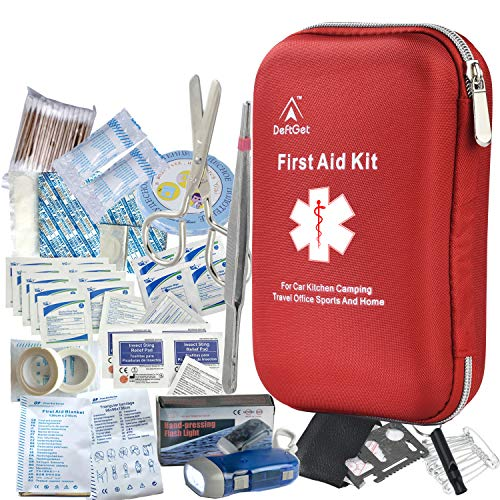 DeftGet First Aid Kit - 163 Piece Waterproof Portable Medical Emergency