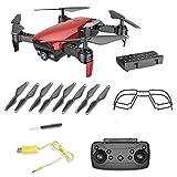 Dinglong Drone,X12 Drone 0.3MP Caméra WiFi FPV 2.4G Une Clé Retour Cadeau Cadeau De Quadricoptère (Rouge)