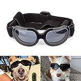 Namsan Gafas de sol para perros, protección UV, resistentes al agua, resistentes al viento, para cachorros y gatos con correas ajustables y marco blando