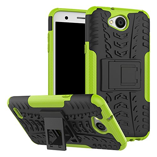 Capa para LG X Power 2/Fiesta 2/X Charge/Fiesta LTE/K10 Power Case, UZER à prova de choque, híbrida, camada dupla, de borracha robusta, híbrida, resistente, com suporte para LG X Power 2/LG LV7/LG Fiesta LTE