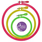 Asian Hobby Crafts Plastic Embroidery Hoop Ring Frame (Set of 3)