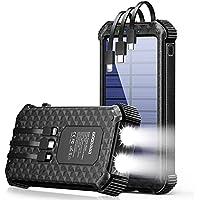 GOODaaa G30 Portable 30000mAh Solar Phone Charger Power Bank