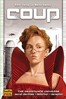 Indie Boards & Cards IBC92624 Coup (The Dystopian Universe) Silver 1.2 x 4.1 x 6.2 inches