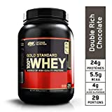 Optimum Nutrition Gold Standard 100% Whey Protéine en Poudre avec Whey Isolate, Proteines Musculation Prise de Masse, Double-Rich Chocolat, 29 portions, 900 g