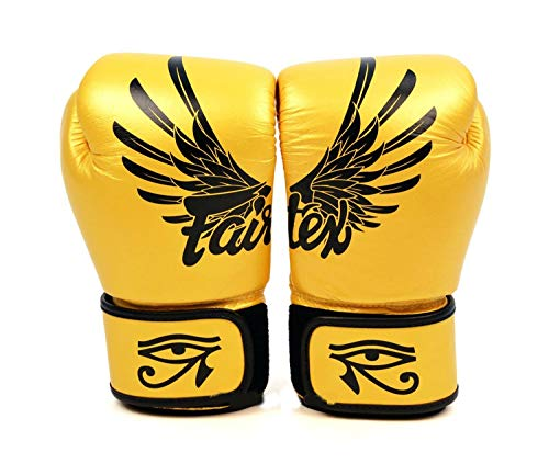 Fairtex Boxing Gloves BGV1 Yellow Gold Falcon Limited Edition Muay Thai MMA K1 (12 oz.)