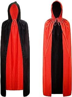 black and red cloak