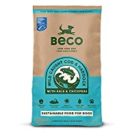 Beco Pets Dog Food - MSC Cod & Haddock with Kale and Chickpeas - 2kg - Natural Grain Free Ethical Do...