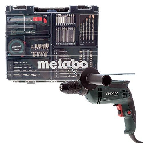 Metabo taladradora de percusión SBE 650 con 55-piezas conjunto accesorio, 600671870