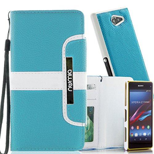 numia Schutzhülle für Sony Xperia Z Ultra Hülle [herausnehmbares Case] PU Leder Tasche Kartenfach [Türkis]