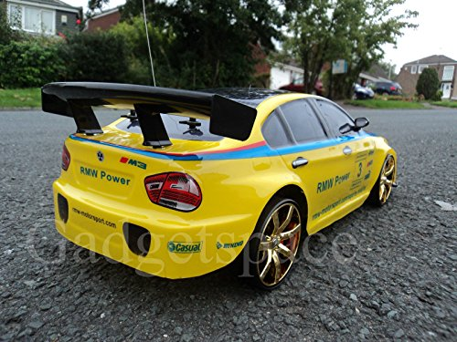 RC Auto kaufen Drift Car Bild 2: YELLOW BLACK COUPE 4WD DRIFT RADIO REMOTE CONTROL CAR 1 10 FREE TYRES NEW RAPID FAST SPEED by Action Ford Ltd*