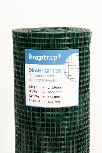 KrapTrap® Volierendraht grün Drahtgitter I Käfigdraht Schweißgitter (1m x 25m)