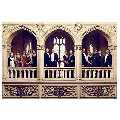 feitao Downton Abbey - Britische Fernsehserie Season Show Poster Leinwand Wandkunst Druck Auf Leinwand -24X32 Zoll Ohne Rahmen