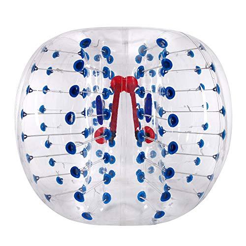 YANGMAN Burbuja de fútbol Bola de hámster Humano Bola Gruesa 0.8mm PVC Transparente Hinchable Bola zorb Bola para Adolescentes y Adultos a Jugar Bull Rush etc Juegos,Blue,1.8M/6Ft