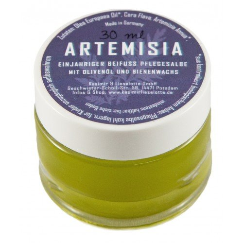 Einjähriger Beifuß Salbe, Artemisia Anna Salbe 30g mit Olivenöl und Bienenwachs, aus händischem Eigenanbau ohne Einsatz von Pflanzenschutzmitteln oder anderer chemischer Zusätze