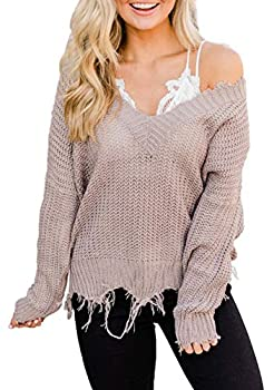 Best distressed sweater Reviews