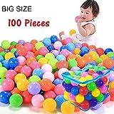 LIVIVO Kinder bunte Spaß 100 Stück bunte Bälle weiche Spielbälle Zelte Pools Indoor Outdoor