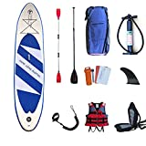 HUAQINEI Stand Up Sup Paddle Board Inflable, Paddle Ajustable...