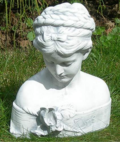 Unbekannt Dekofigur Gartenfigur Figur Büste Iris grau patiniert Höhe 29 cm Gartenskulptur aus Beton