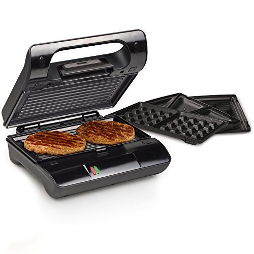 Princess 01.117002.01.001 117002 Contactgrill Multi & Sandwich Grill Compact Pro, roest, zwart