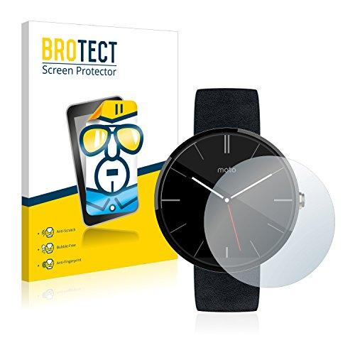 BROTECT Schutzfolie kompatibel mit Motorola Moto 360 46 mm (1. Generation) (2 Stück) klare Bildschirmschutz-Folie